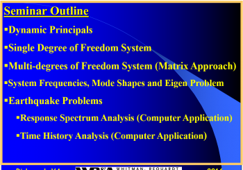 Are You Interested?  Structural Dynamics & Software Applications Seminar